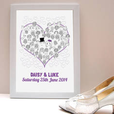 Fingerprint wedding guestbook