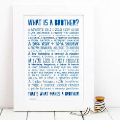 What is a brother? Poem typographic print
