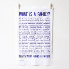 What is a family? Poem tea towel