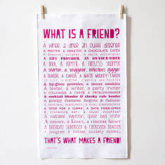 What is a Friend? Poem tea towel