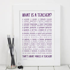 What is a teacher? Personalised poem print