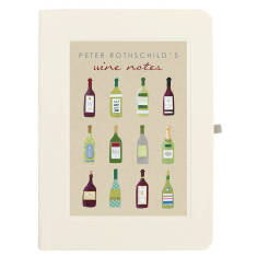 Personalised twelve bottles wine notebook