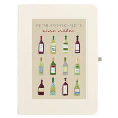 Personalised twelve bottles wine notebook