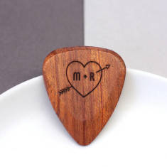 Personalised Heart And Arrow Plectrum