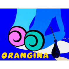 Orangina blues canvas