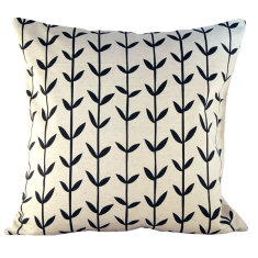Black Scandi-style cushion