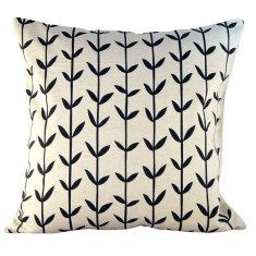 Black Scandi-style cushion