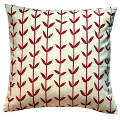 Red Scandi-style cushion