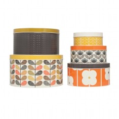 Orla Kiely round nesting tins (set of 5)