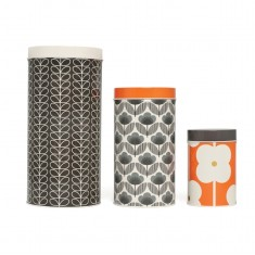 Orla Kiely canisters in blue poppy (set of 3)