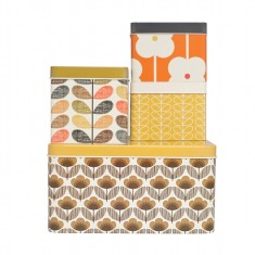 Orla Kiely square biscuit tins (set of 4)