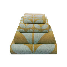 Orla Kiely stem jacquard pebble collection in duck egg and olive