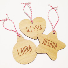 Personalised Christmas shape decoration