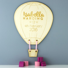 Personalised Hot Air Balloon Wooden Sign
