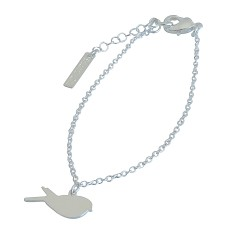 Tiny Bird Bracelet In Silver