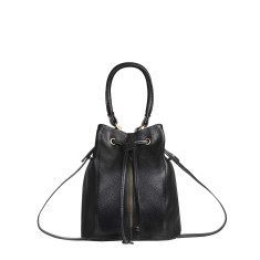 Premonition leather bag in black