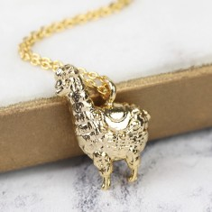 Gold Llama Pendant Necklace