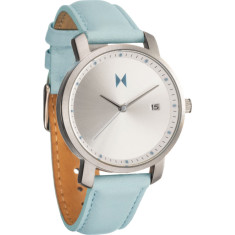 MVMT women's watch in stainless steel & arctic blue leather strap