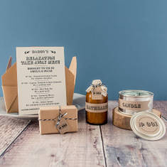 Personalised Dad's Relaxation Takeaway Apothecary Kit