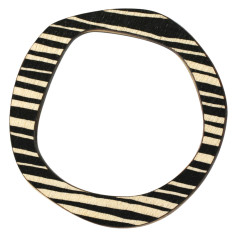 Black stripe reversible bangle
