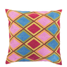 Diamonds are forever hand loomed woollen cushion cover