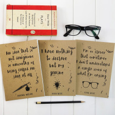Oscar Wilde notebooks (set of 3)