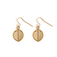 Gold Beech Leaf Earring