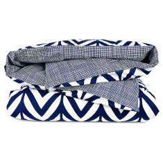 Oslo duvet set in navy