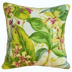 Orchid indoor or outdoor cushion