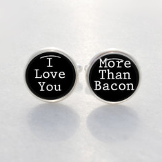 I love you more than bacon cufflinks
