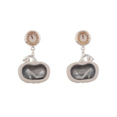 Glass Slipper in a Pumpkin Earrings