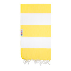 Hammamas Turkish Towel in Bold Daisy/White