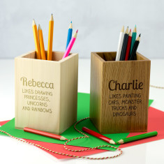 Personalised Kid's Likes Pen & Pencil Holder