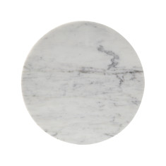 Circle Trivet In Carrara Marble