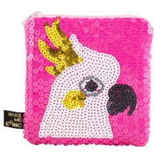 iconic cockatoo sequin purse