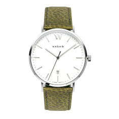 Versa 40 Watch In Steel with Olive Band