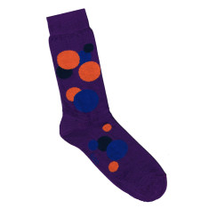 Loco purple circle socks
