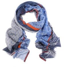 Boho multi print wool silk scarf (2 colours available)