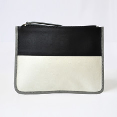 Large leather clutch (various colours)