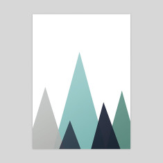 Mountains Scandi style art print