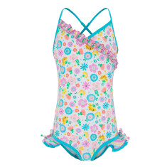 Girls' UPF 50+ Bloom Fru Fru Swimsuit