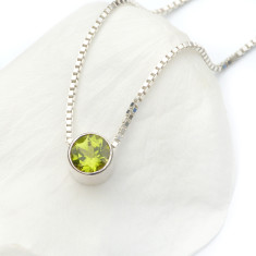Peridot Necklace August Birthstone