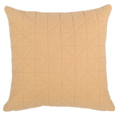 Quilted Peach Cushion (various sizes)