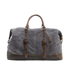 Canvas Waterproof Weekender Bag With Leather Handle