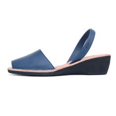Merla leather sandals in navy