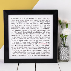 Friendship typographic print
