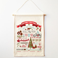 Personalised family Christmas wall banner (various designs)