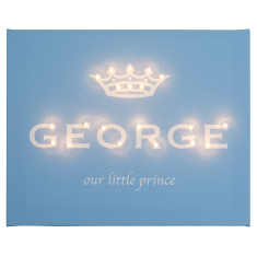 Our little prince illuminated canvas