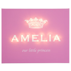 Our little princess illuminated canvas