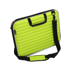 Laptop case in acid green